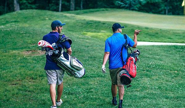 Men Going Golfing